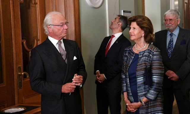 King Carl Gustaf, Queen Silvia and the Speaker of the Riksdag, Andreas Norlén