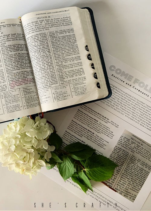 Doctrine and Covenants printable Come Follow Me study guide
