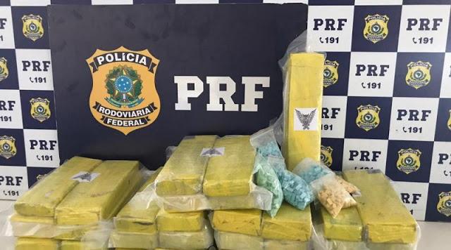 PRF prende jovem com 1,5 mil comprimidos de ecstasy e 20 kg de maconha na Bahia