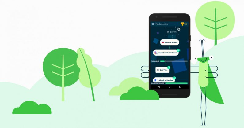Learn how to code for free with Area 120's new app 'Grasshopper'