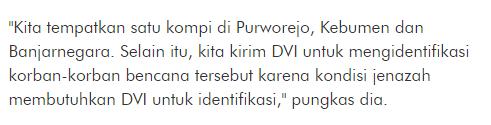 Innallilahi Baru Dapat Kabar Dari Kapolda Jateng Jika Ternyata Masih ada 11 Korban Longsor di Purworejo Belum Ditemukan - Commando