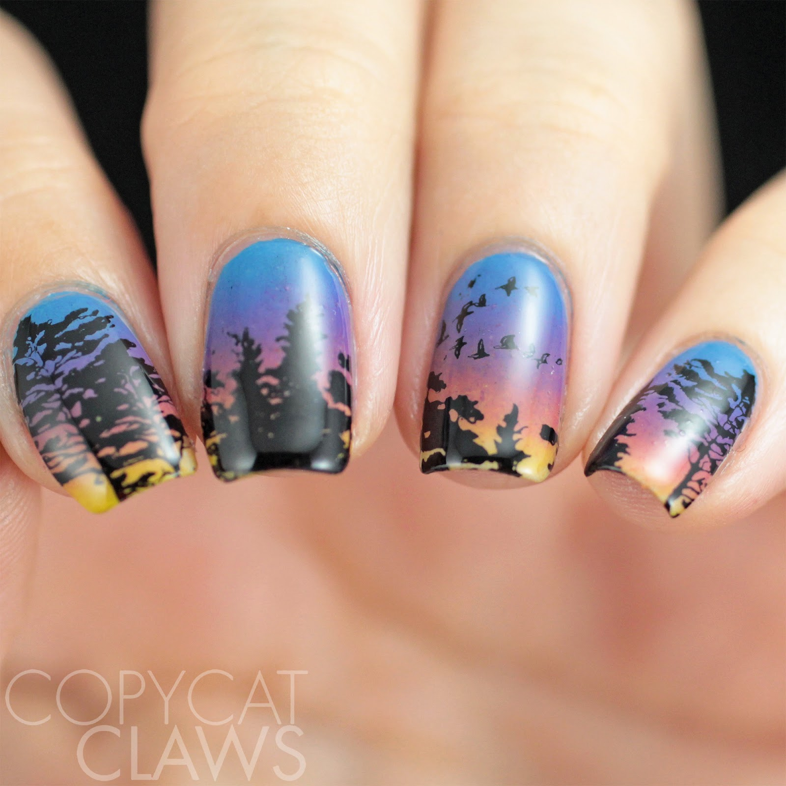 Copycat claws 26 great nail art ideas end of summer on the plus side they inspired todays nails that evening also had a beautiful sunset as though the sky knew i needed to be cheered up a bit prinsesfo Choice Image