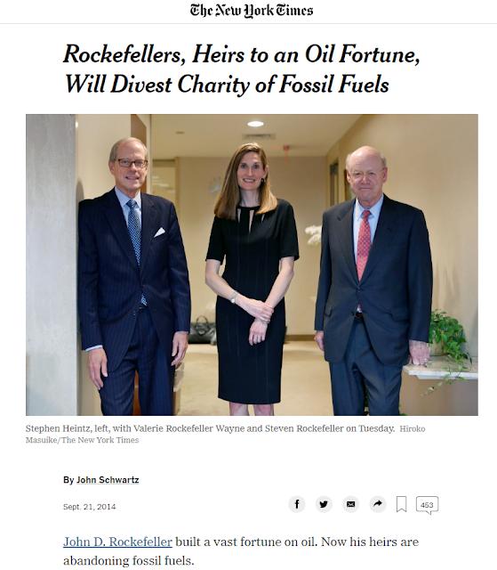 The Rockefeller Family Sold Their Exxon Position Right Near the top