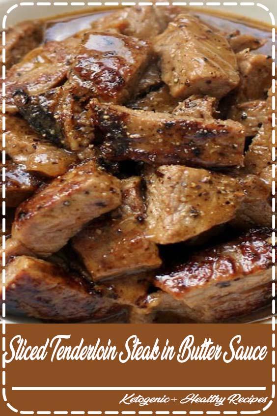 Sliced Tenderloin Steak in Butter Sauce