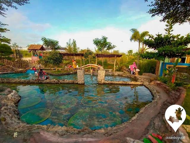 kolam renang wisata dolan sawah boyolali
