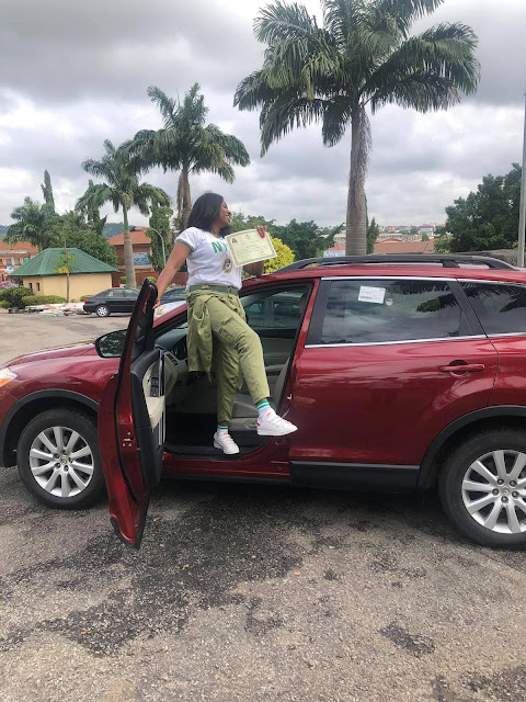 Lady%2Bbuys%2Bherself%2Ban%2BSUV%2Bto%2Bcelebrate%2Bpassing%2Bout%2Bof%2BNYSC%2B%2B4 - Woman buys herself an SUV to rejoice passing out of NYSC