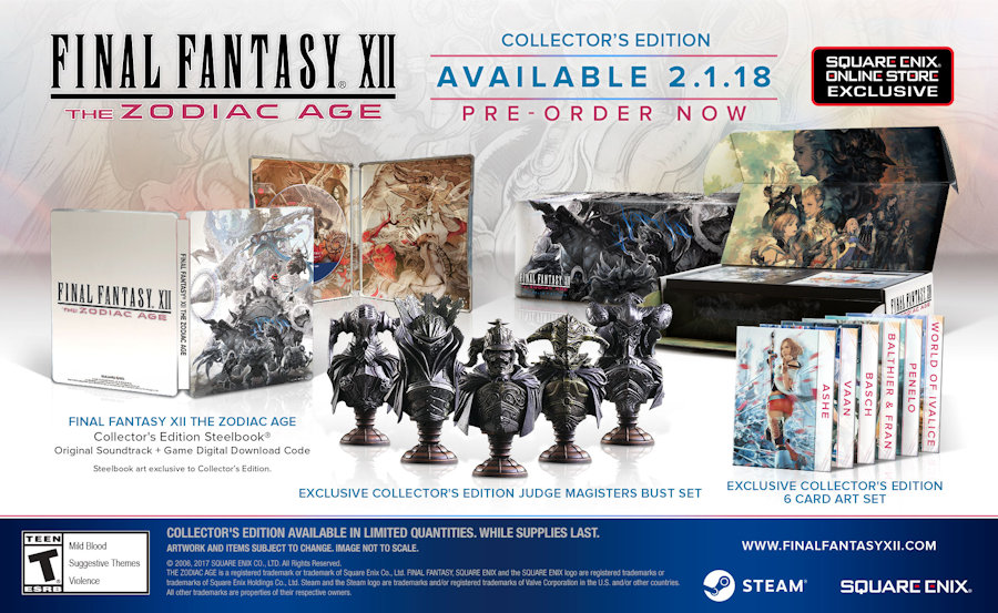 The Qwillery Final Fantasy XII The Zodiac Age Arrives On February - Free contractor invoice square enix online store