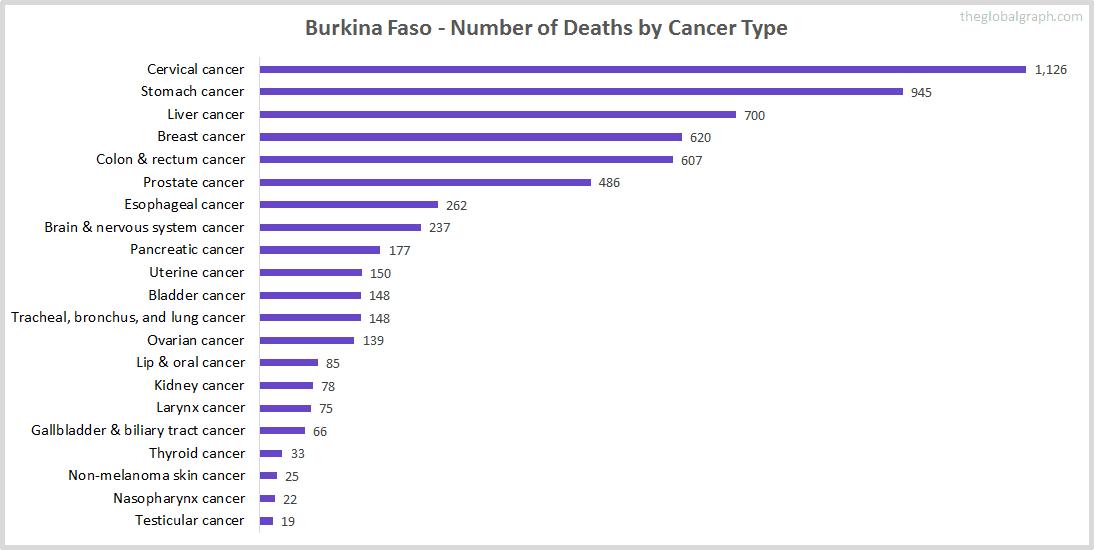 Major Risk Factors of Death (count) in Burkina Faso