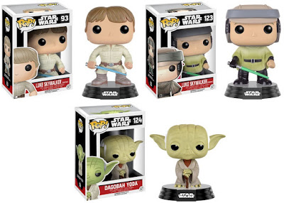 Star Wars Pop! Series 7 Vinyl Figures by Funko - Bespin Luke Skywalker, Endor Luke Skywalker & Dagobah Yoda