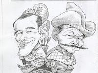 """Karikatur """"Jokowi vs Bibit Waluyo"""" Karya Abdullah Ibnu Thalhah"""