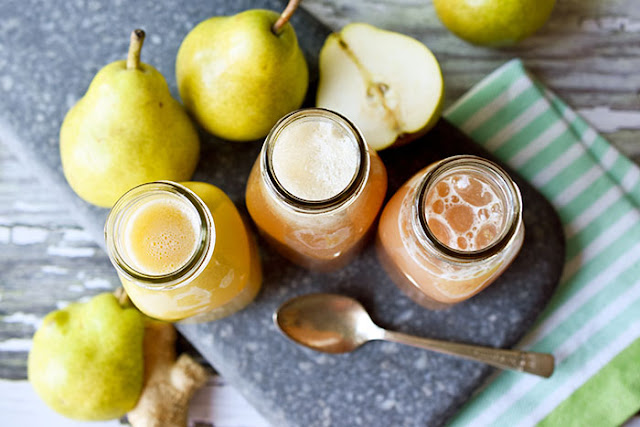 Pear Juice 3 Ways