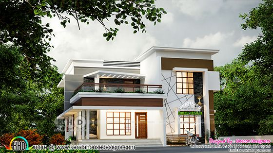 3D rendering of the traditional + contemporary mix house design architecture