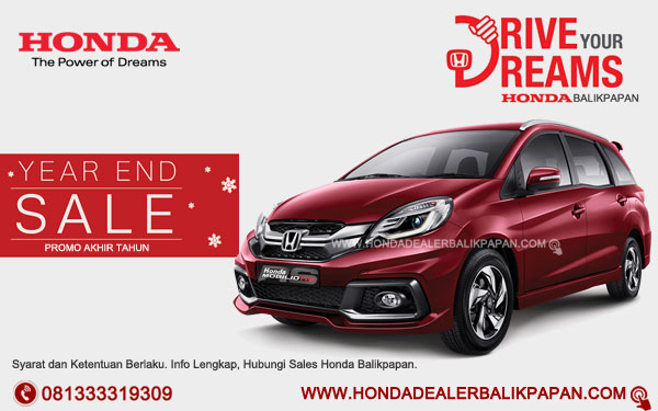 Promo Akhir Tahun Honda Mobilio RS Balikpapan