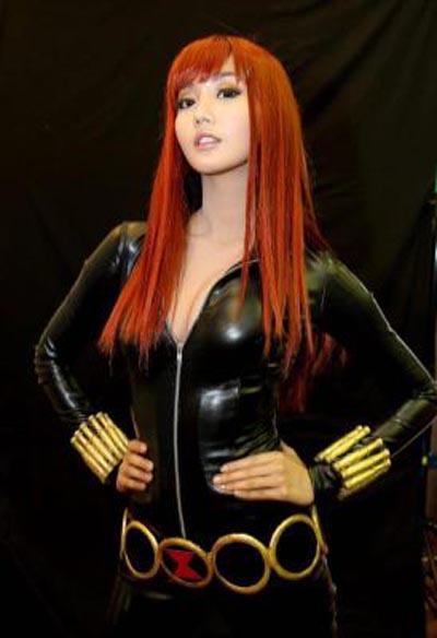 sexy black widow cosplay alodia gosiengfiao 01