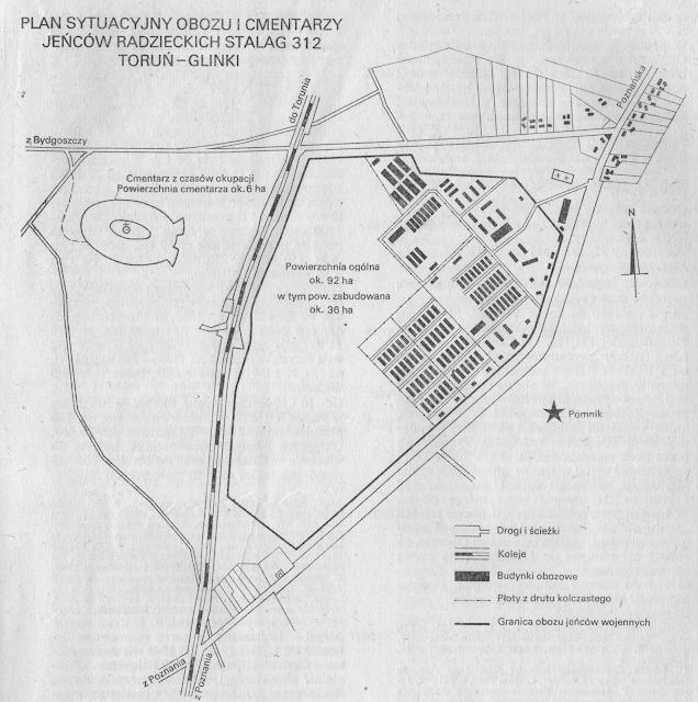 Pomnik na planie obozu z 1978 r., materiał Głównej Komisji Badania Zbrodni Hitlerowskich w Polsce