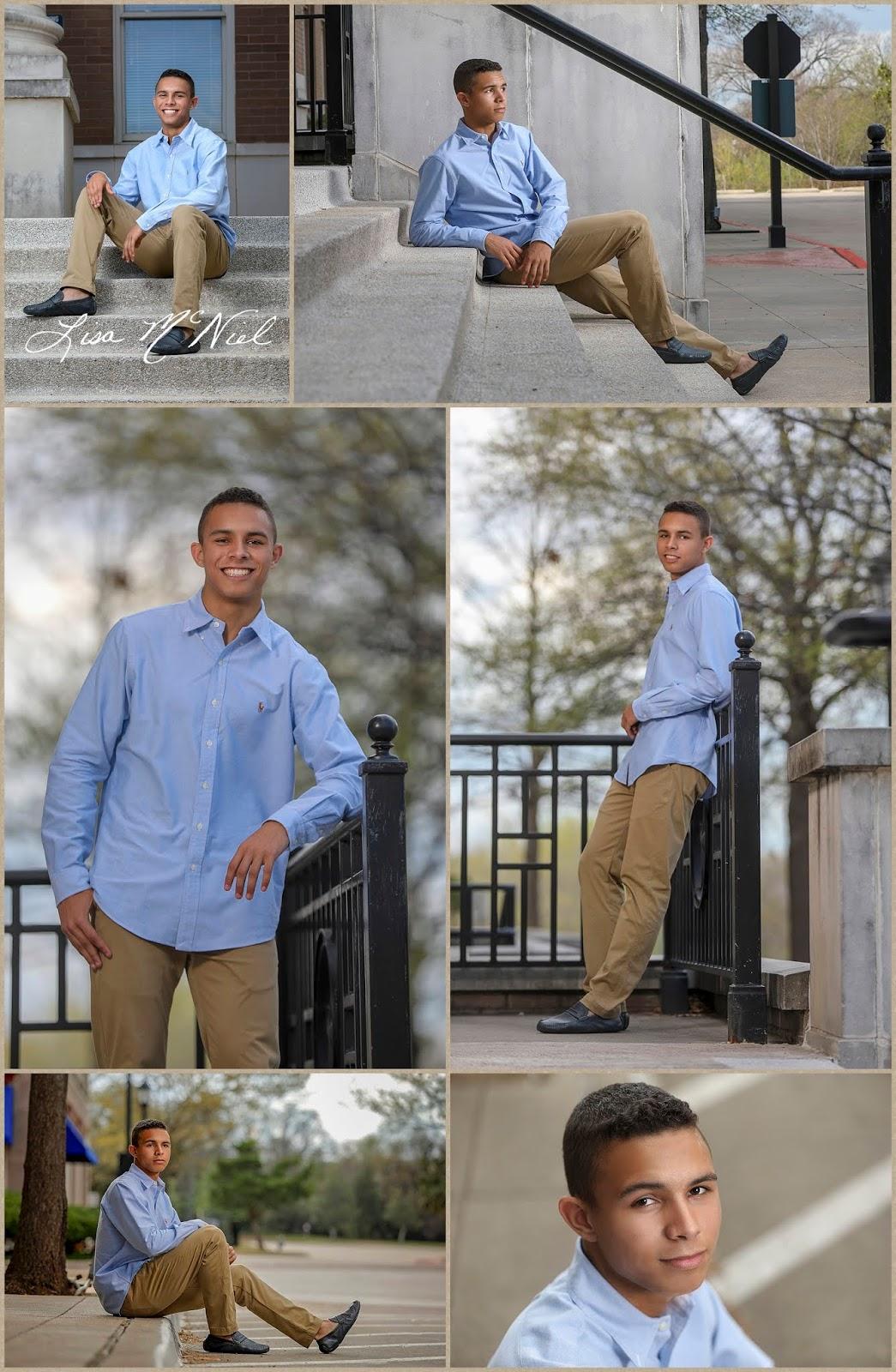 collage of teen boy wearing blue shirt