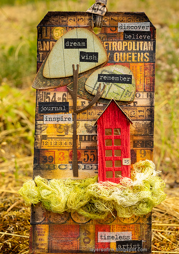 Layers of ink - Tape and House Tag Tutorial by Anna-Karin Evaldsson.