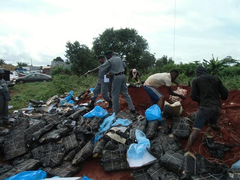 Photos: Nigerian Customs Service impounds 256m naira worth of frozen chicken in Owerri