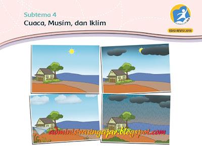 Kunci Jawaban Buku Siswa Kelas 3 Tema 5 Cuaca Kurikulum 2013 Revisi 2018