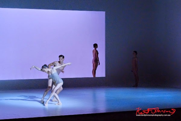 Open set blue - The Australian Ballet - CHROMA - Preview & Dress Rehearsal - Photographed by Kent Johnson.