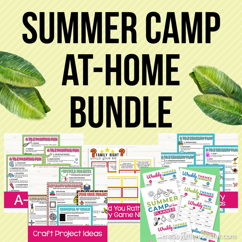 summer camp at home ideas