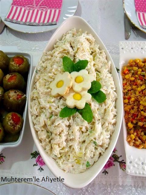 çay masası için salata tarifi