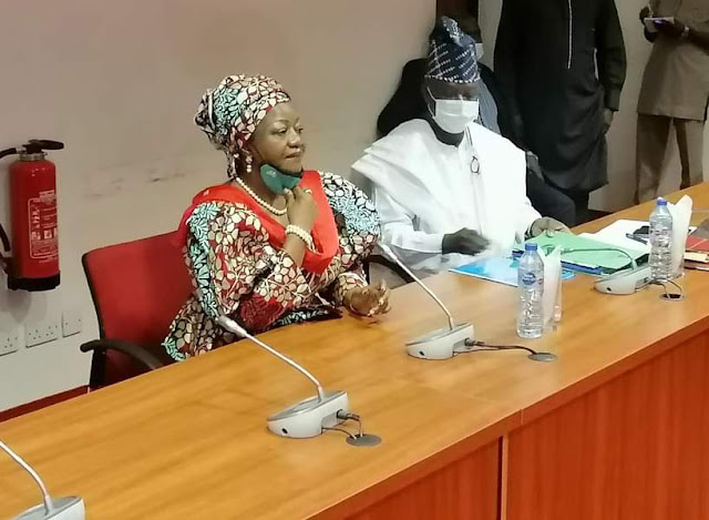 """Alt: = """"photo showing Laurette Onochie at the Senate"""""""