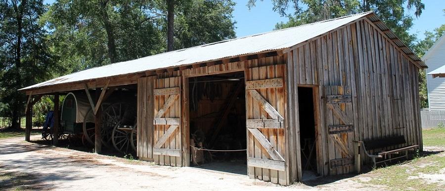 Edificios históricos en el Pioneer Settlement