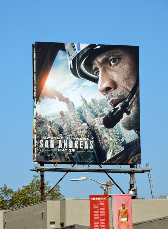 Dwayne Johnson San Andreas movie billboard