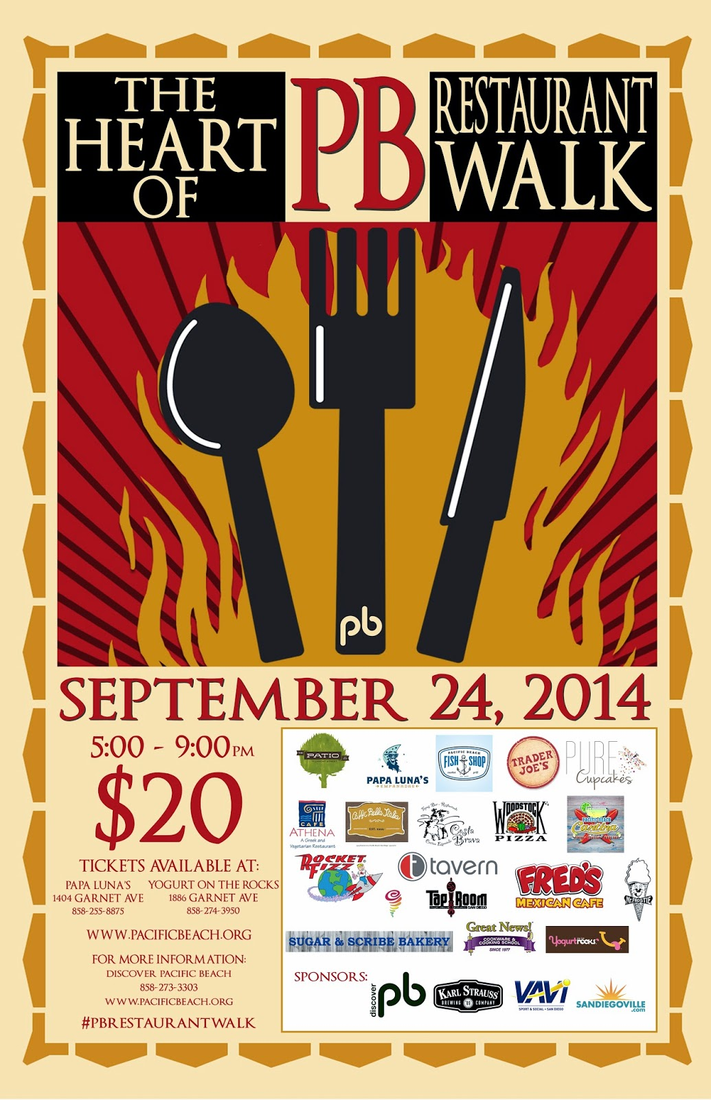 Win Tickets To The Heart Of Pacific Beach Restaurant Walk And Craft Beer Tasting Wednesday September 24th From 5 9pm