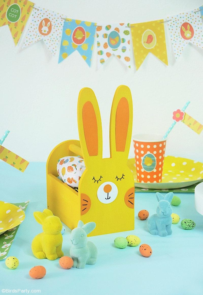 Décor de Table de Pâques DIY Pour Les Enfants - des projets créatifs et faciles pour une table de Pâques amusante pour les enfants! by BirdsParty.com @birdsparty #paques #decor #tablepaques