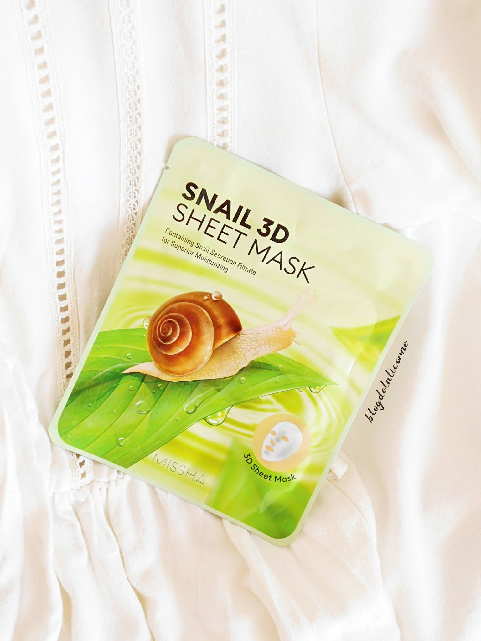 Missha Snail 3D plátenná maska