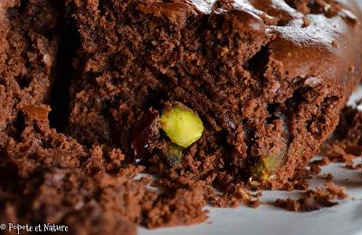 Brownie aux cranberries et pistaches © Popote et Nature