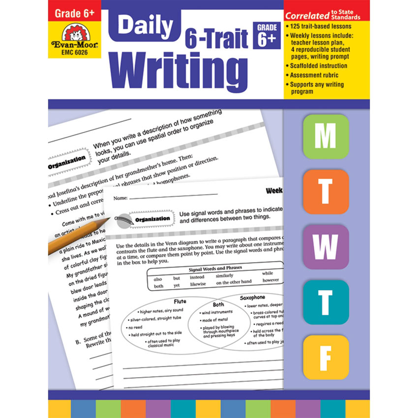 Grace Christian Homeschool: Review of Daily 6-Trait Writing Grade 6