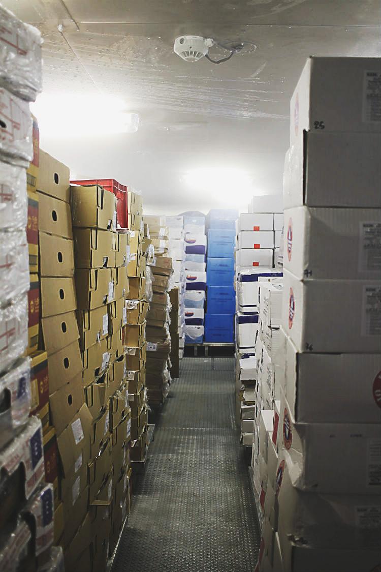 Eines der Kühlhäuser an Bord der Mein Schiff 5 von Tui Cruises | Arthurs Tochter kocht. Der Blog für Food, Wine, Travel & Love von Astrid Paul