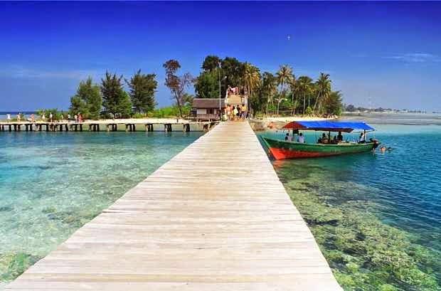 Pulau Tidung salah satu objek wisata di pulau seribu