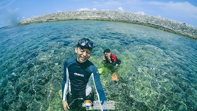 Live update using roaming data during my scuba diving trip in Padang Indonesia
