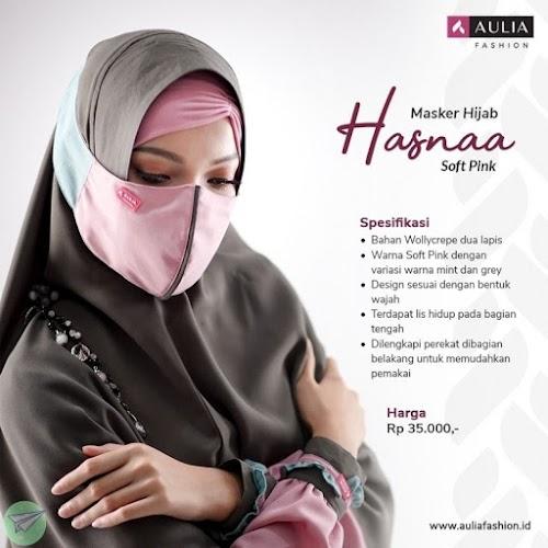 masker hijab aulia hasna soft pink