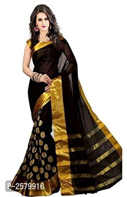 Polka Embroidered Polycotton Sarees