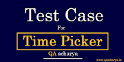 Test Cases for Time Picker