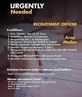 Recruitment Officer di PT Permata Indo Sejahtera