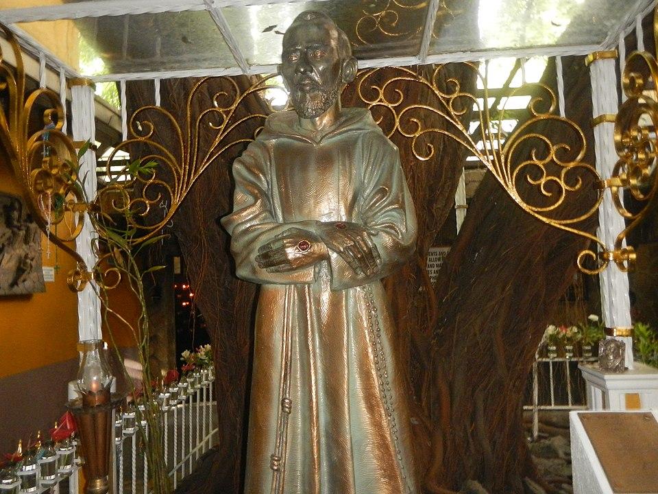 Saint Pio of Pietrelcina Statue at Saint Pio Chapel in Bagumbayan, Quezon City, Philippines taken by Judge Florentino Velasquez Floro, Jr.
