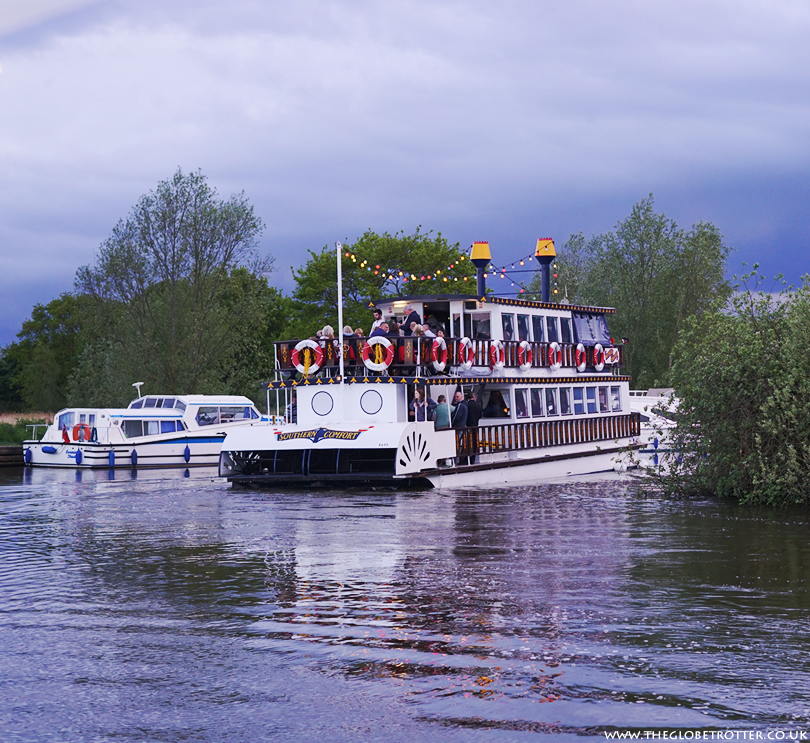 Southern Comfort Boat on the Norfolk Broads