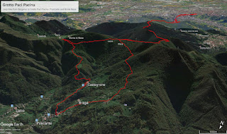 Various views of the hike from Bergamo to Poscante, roundtrip.