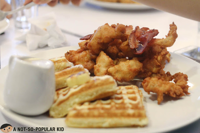 Beer-Battered Chicken and Waffles