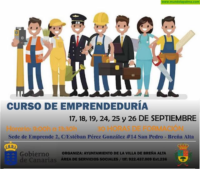 Curso de Emprendeduría en Breña Alta