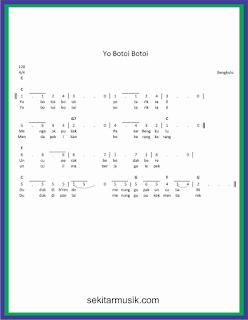 not angka yo botoi botoi lagu daerah bengkulu
