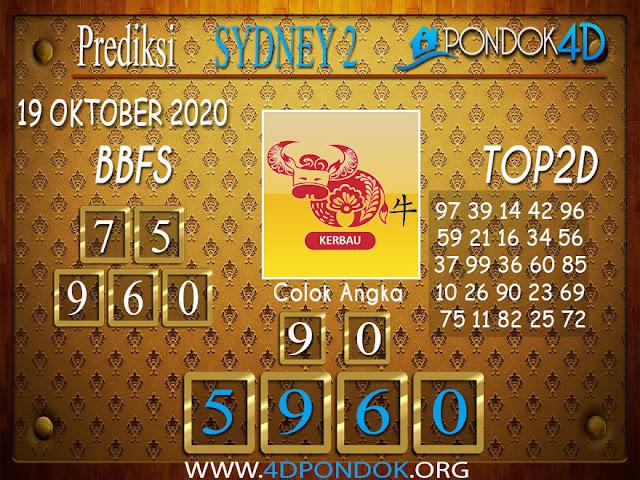 Prediksi Togel SYDNEY 2 PONDOK4D 19 OKTOBER 2020