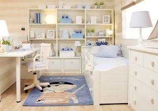 Combinado en lacado texturado blanco y lila ideal para ni as o bien podemos hacerlo en otros - Dormitorios de nina en blanco ...