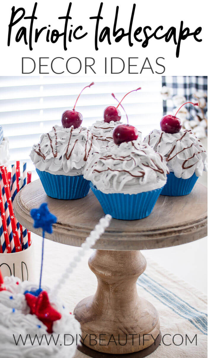 patriotic tablescape decorating